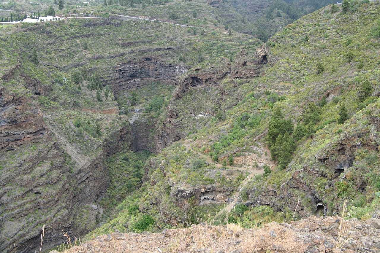 Schlucht Barranco del Jurado La Palma