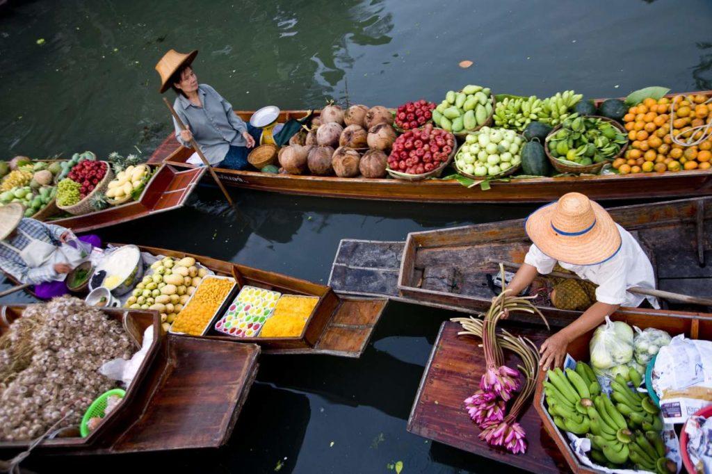 Schwimmender Markt von Don Manora Bangkok