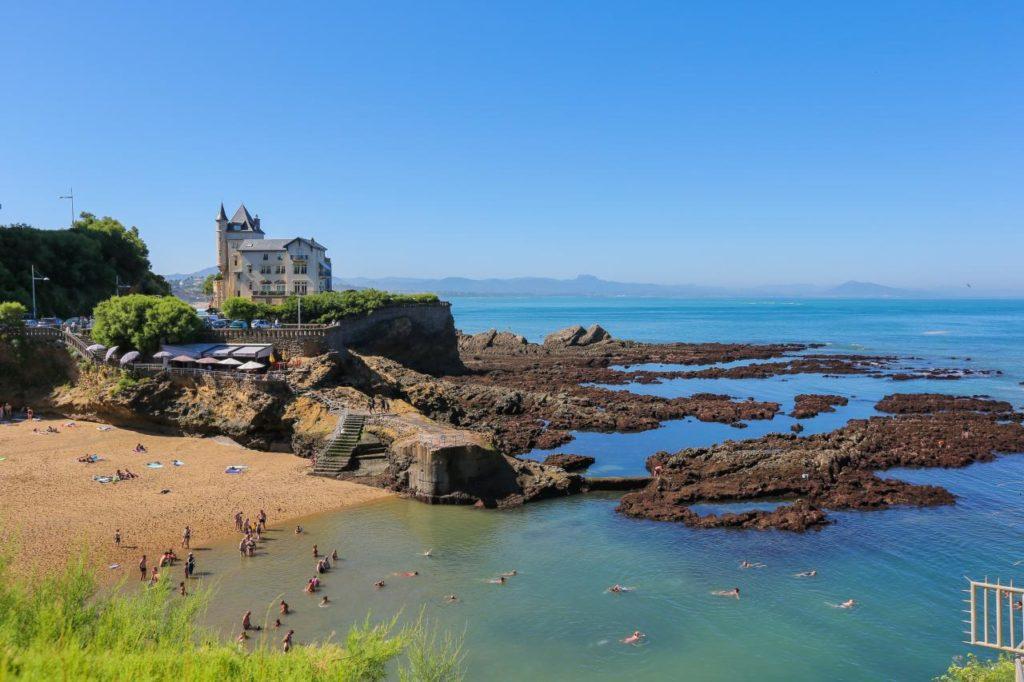 Strand von Port Vieux in Biarritz