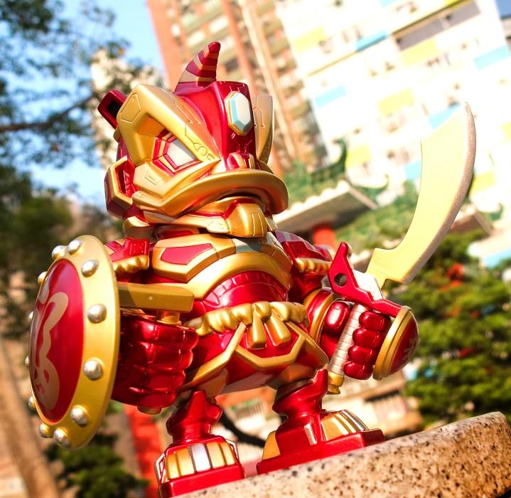 Löwenmaskottchen Glücksbringer Neujahr Hongkong