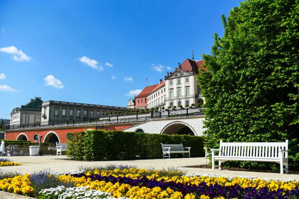 Schlossgarten Warschauer Königsschloss