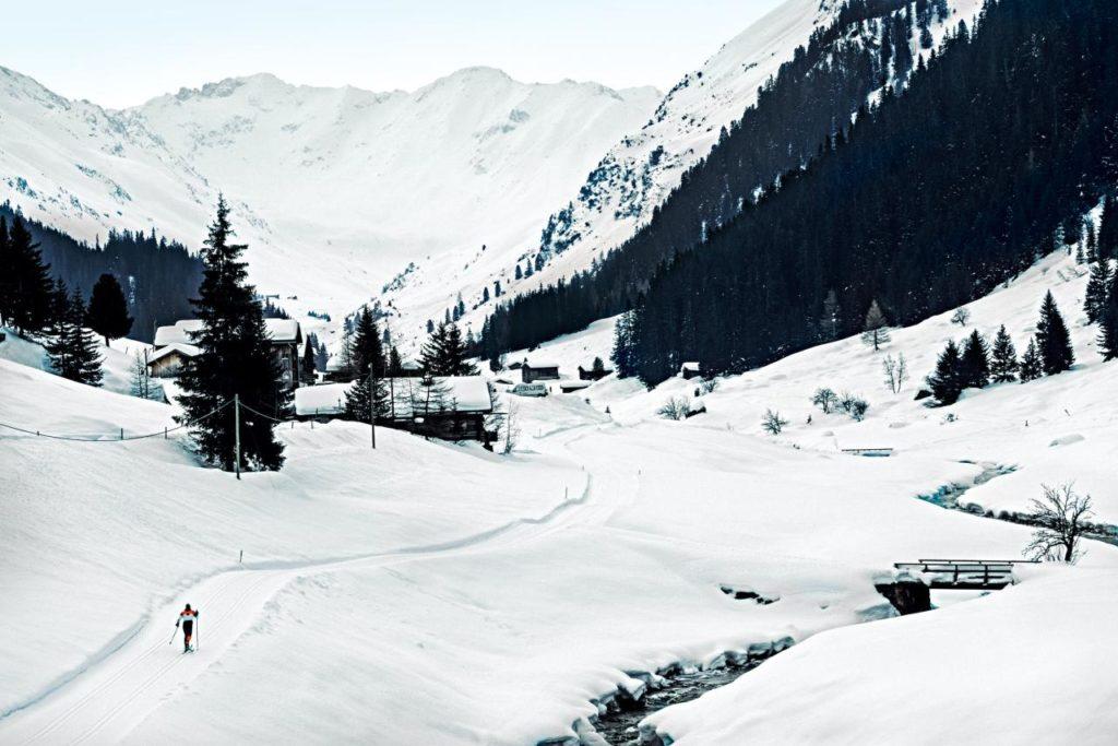 Sertigtal Loipe bei Davos