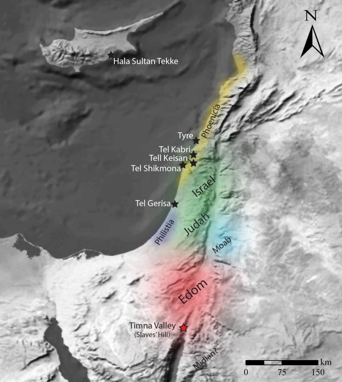 Zentren der Purpurproduktion in der Eisenzeit und die Lage des Timna-Tals