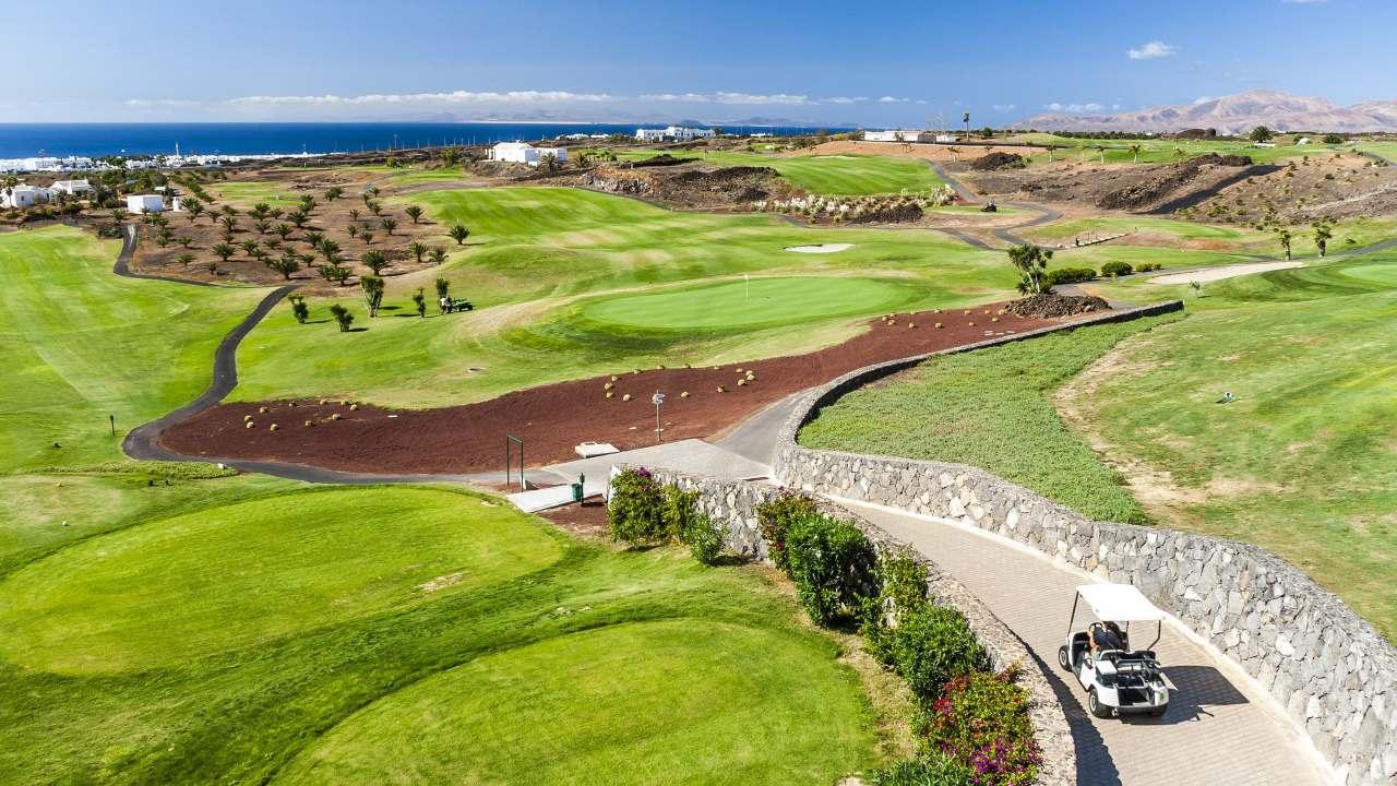 Blick auf Golfplatz Lanzarote Golf Resort