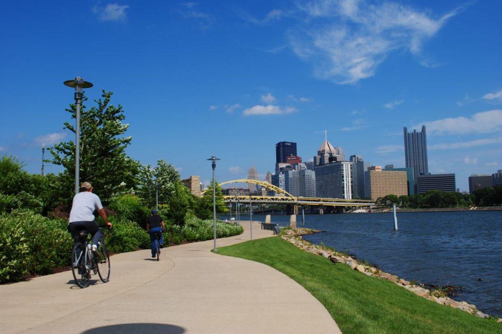 Gut ausgebaute Fahrradwege in Pittsburgh