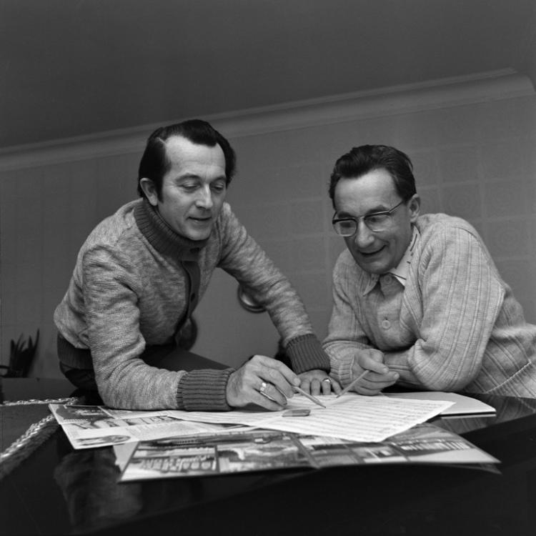 Komponist Herbert Roth mit Texter Karl Müller