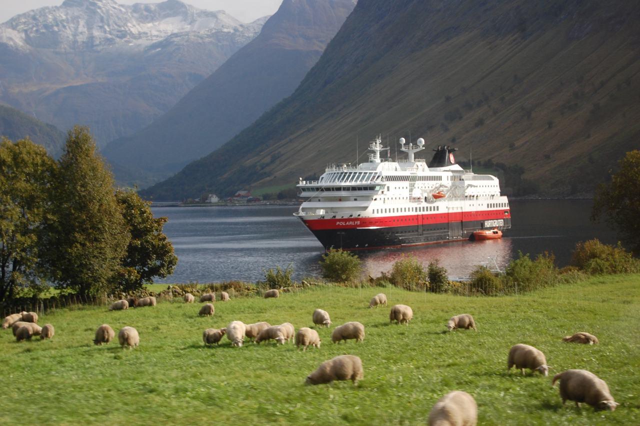 MS Polarlys im Norangsfjord