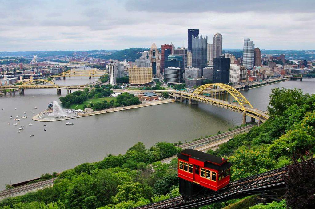 Skyline von Pittsburgh vom Mount Washington