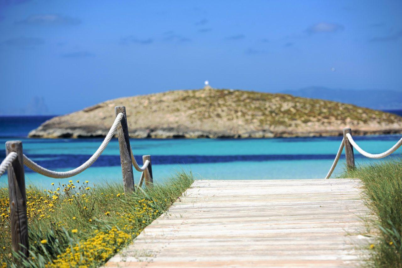 Strandzugang Ses Illetes Formentera