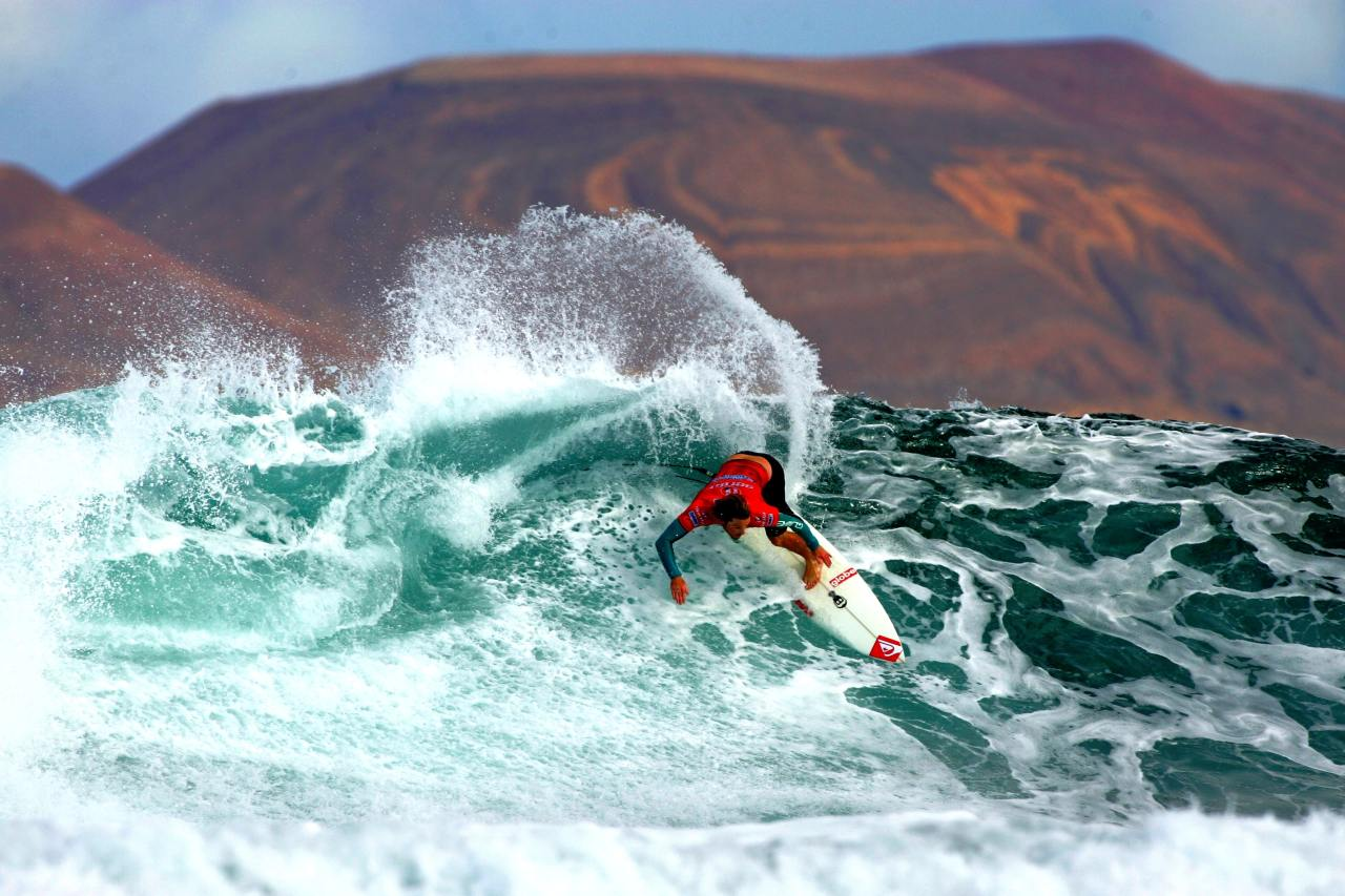 Surf-Profi Nic Muscroft beim Islas Canarias Santa Pro 2009