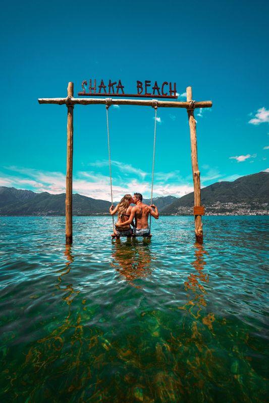 Swing the World Schaukel Shaka Beach am Lago Maggiore