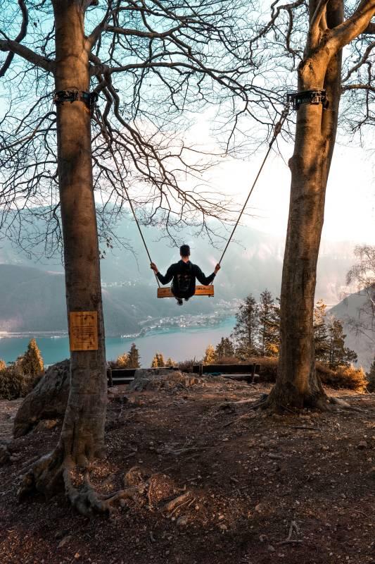 Swing the World Schaukel im Parco San Grato