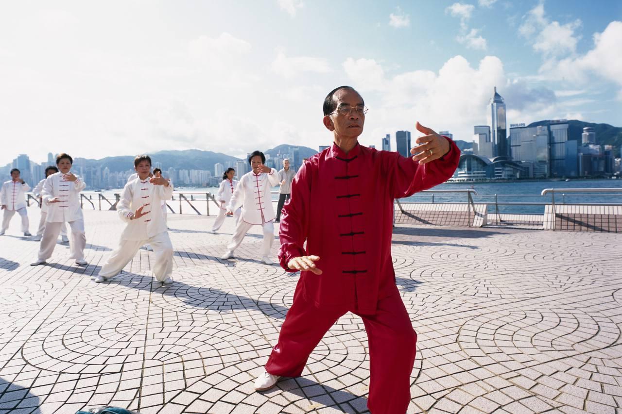 Tai Chi-Gruppe in Hongkong