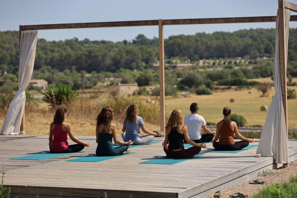 Yoga-Gruppe Son Manera Retreat Finca