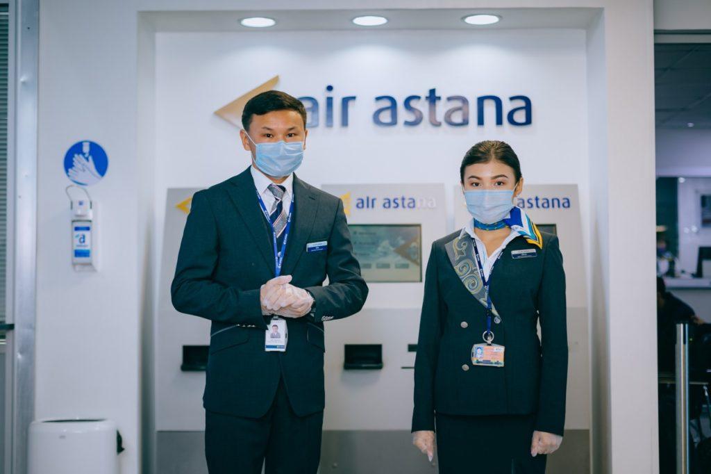 Air Astana Meet and Greet-Mitarbeiter