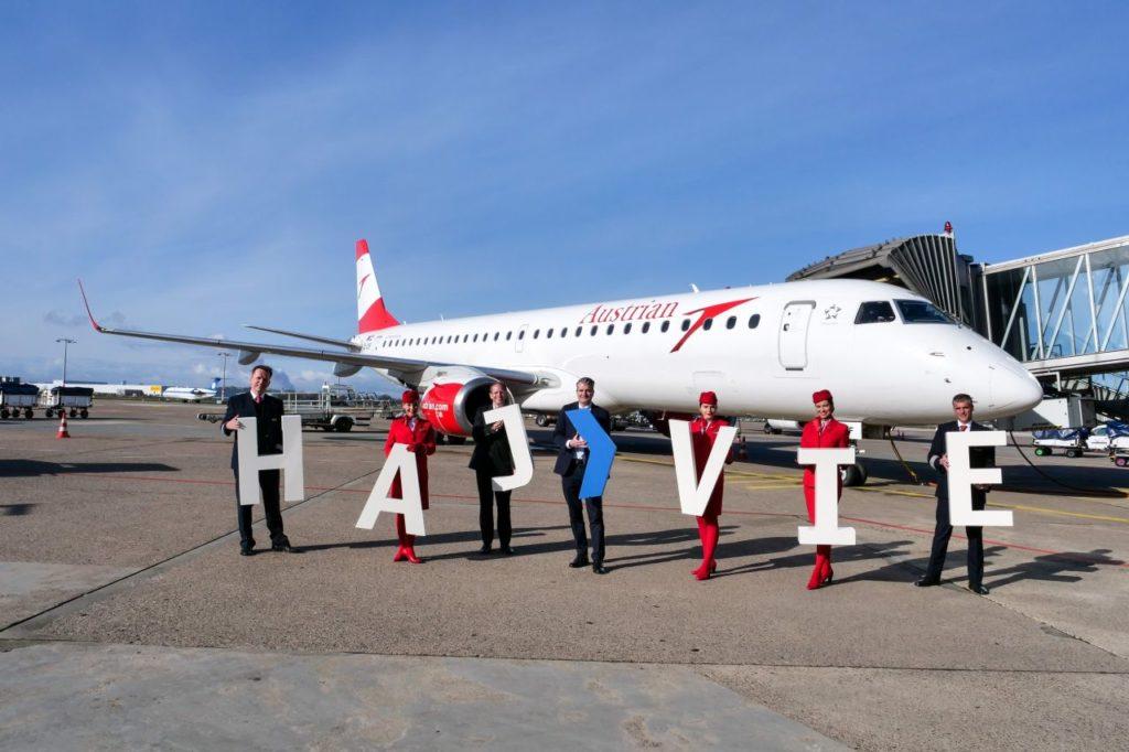 Erstflug Austrian Airlines Hannover-Wien