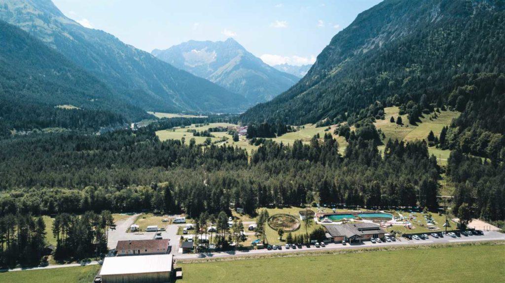 Lechtal Camping Vorderhornbach Vogelperspektive