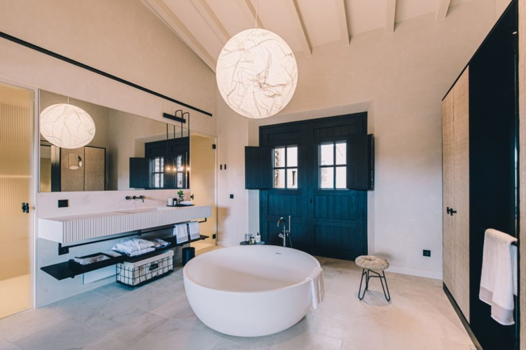 Luxuriöses Badezimmer Hotel Can Ferrereta Santanyi