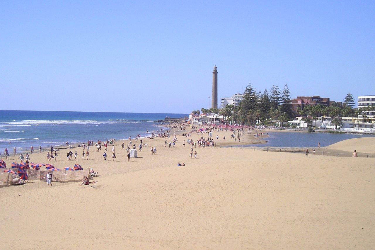 Maspalomas Strand und Leuchtturm
