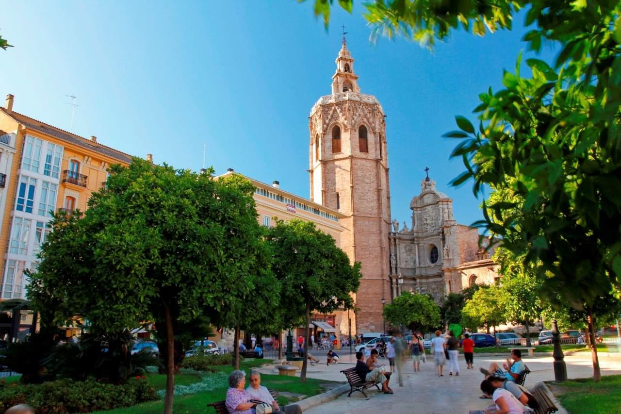 Plaza de la Reina und Kathedrale Valencia