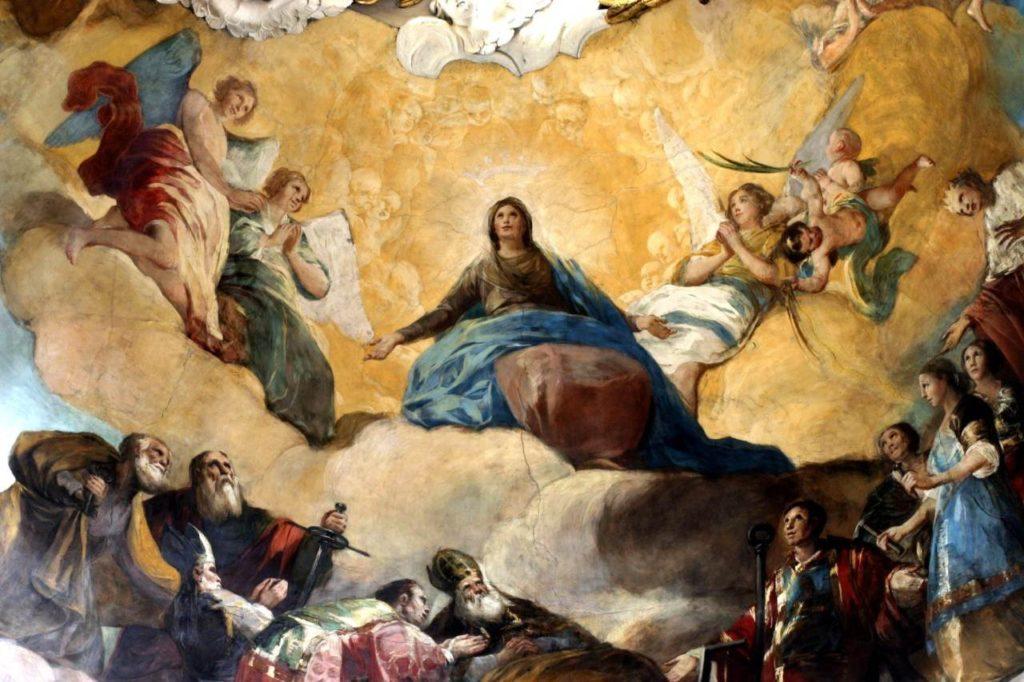 Regina Martyrum auf der Kuppel der Basilika de Pilar Zaragoza