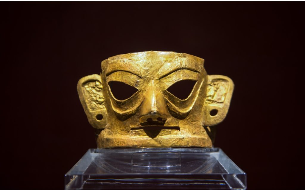 Schmuckstück aus Gold Ausgrabungsstätte Sanxingdui