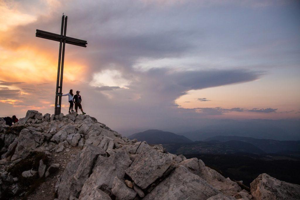 Sonnenuntergang Gipfelkreuz Weißhorn