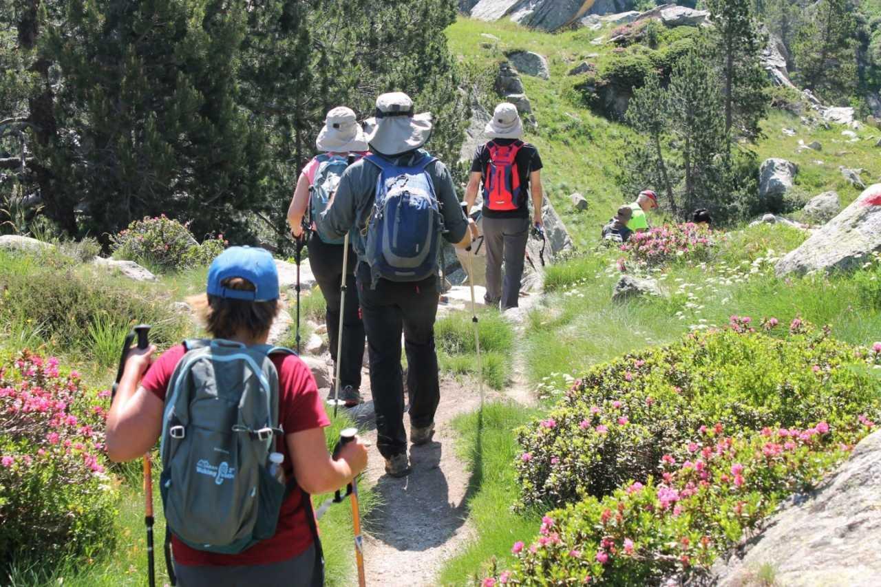 Wandergruppe im Val d'Aran
