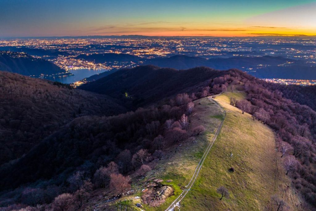 Wanderweg Sentiero del Bisbino Aussicht