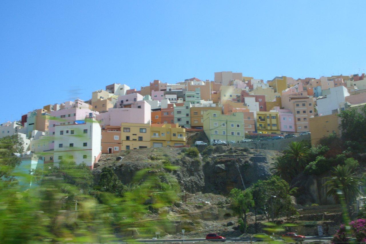 Wohngebiet bei Las Palmas Richtung Tafira