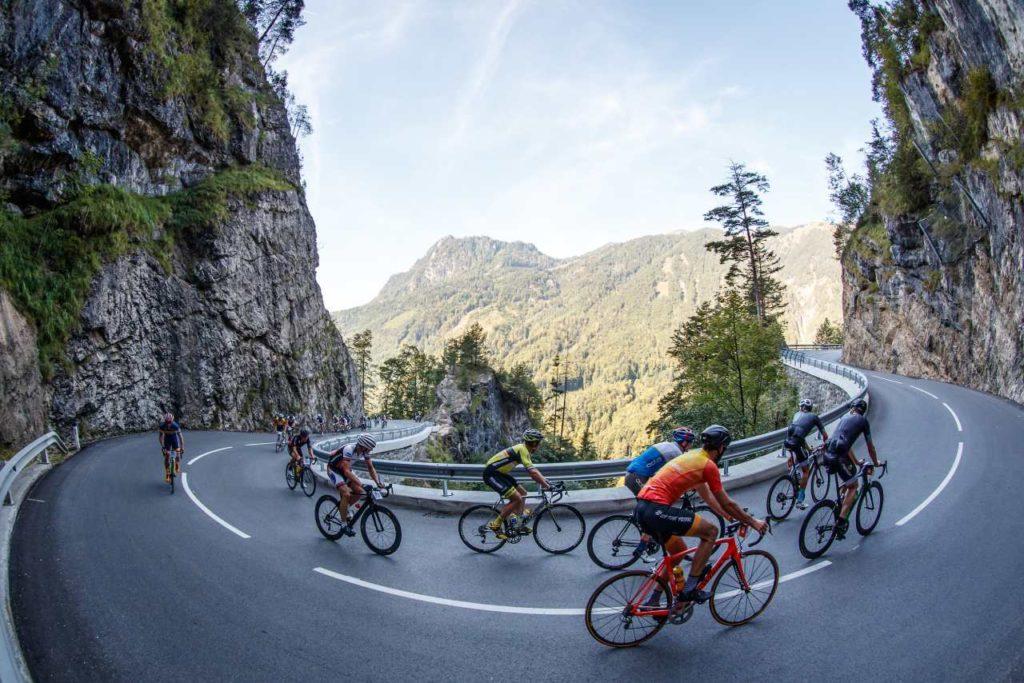 Anstieg beim Kufsteinerland Radmarathon