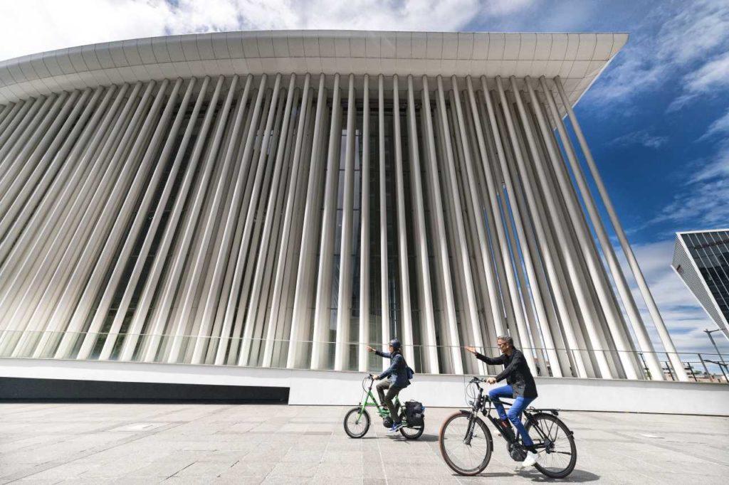 City-Bike bei der Luxemburger Philharmonie