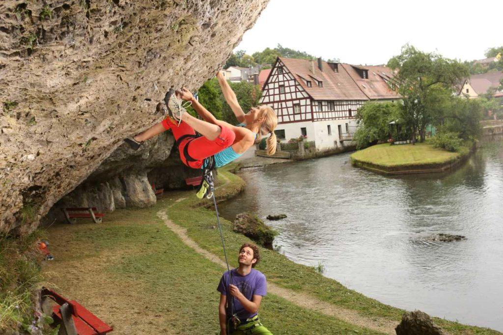 Kletterfelsen in Velden Nürnberger Land
