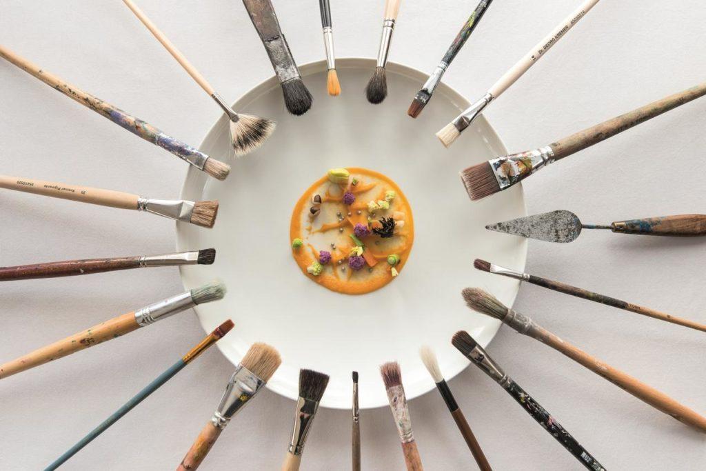Kulinarischer Kunstteller