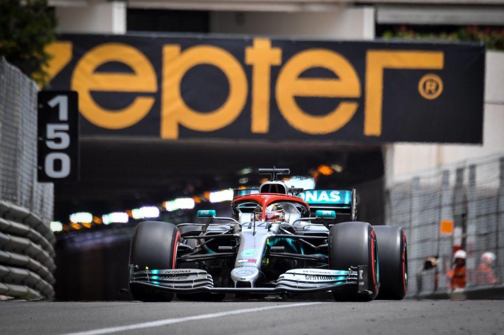 Mercedes Formel 1-Auto Monaco