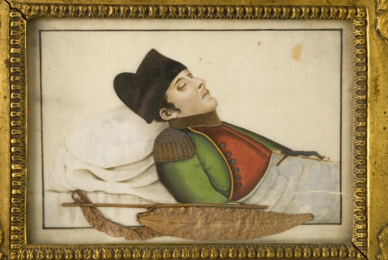 Napoleon auf dem Sterbebett nach seinem Tod