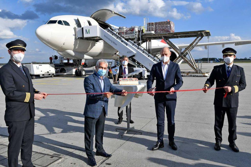 Premierenfoto Turkish Airlines Cargo Flughafen München