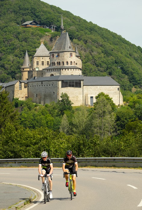 Radeln bei Schloss Vianden