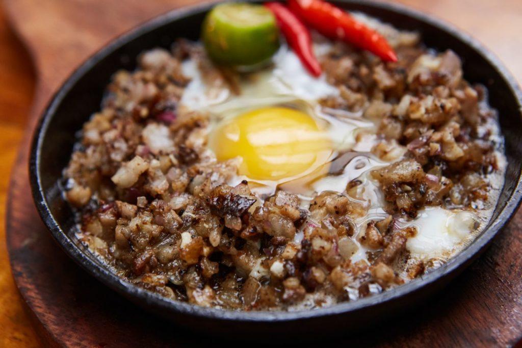Sisig Grundmahlzeit Philippinen