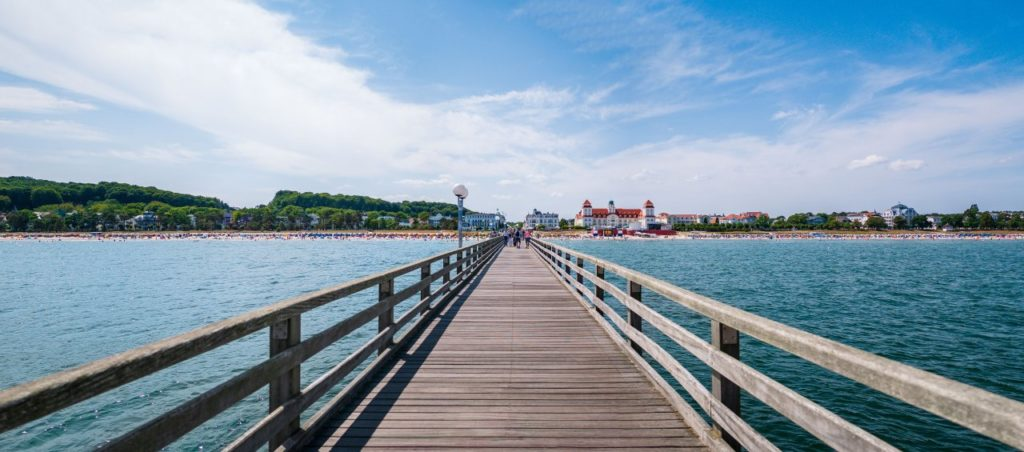 Strandampel Seebrücke Binz