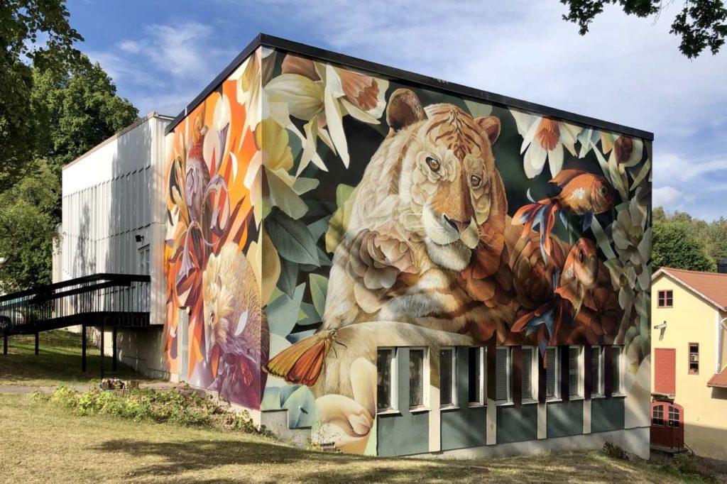 Street Art Kunstwerk Tiger Västervik