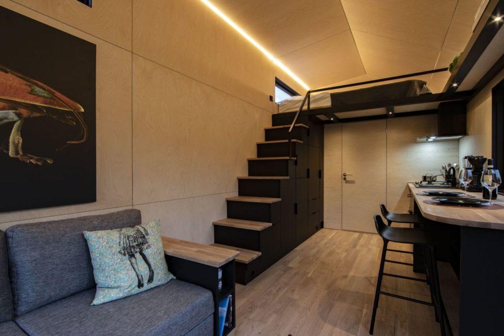 Tiny House Vätternsee Schlafbereich