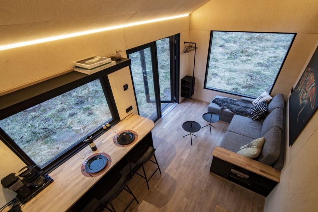 Tiny House Vätternsee Wohnbereich