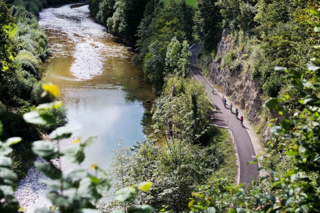 Ybbstalradweg entlang der Ybbs