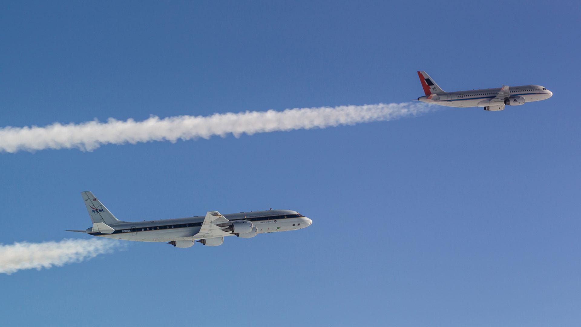 Kondensstreifen Flugzeuge Klima Forschung DLR