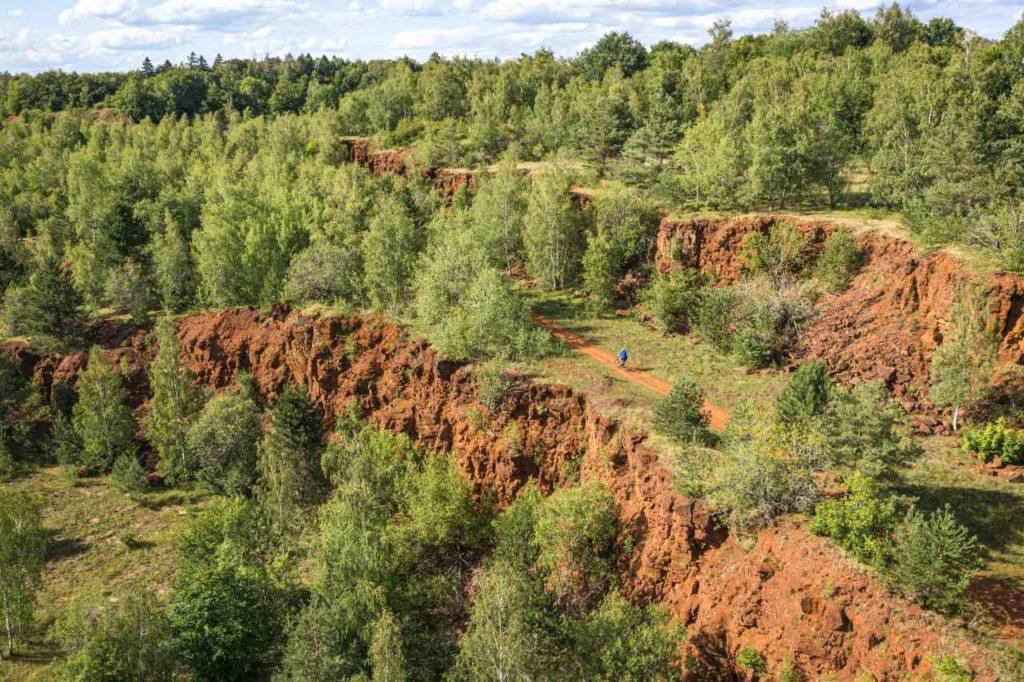 Minett-Trail Eisenerzabbaugebiet Minett