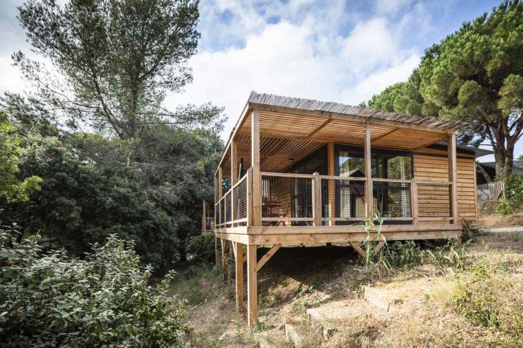 Öko-Mobilhome auf dem Campingplatz Forêts de Janas