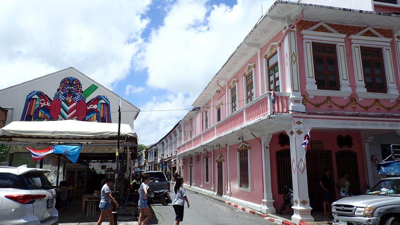 Phuket Town Häuser Kolonialstil