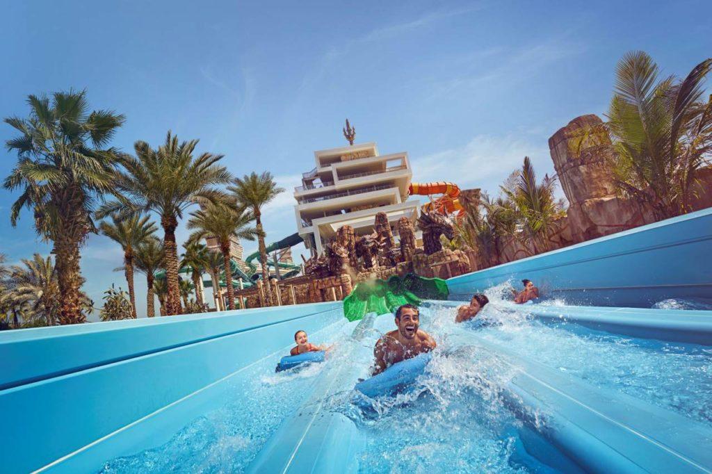 Rutschvergnügen im Aquaventure Wasserpark Dubai