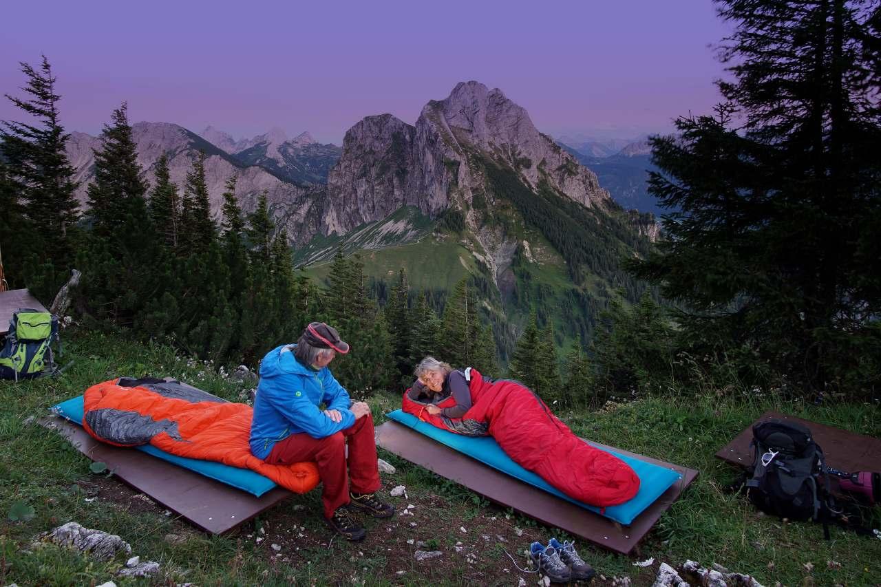 Übernachten unter freiem Himmel auf dem Breitenberg